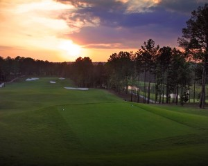 A typical sunset at Governors Towne Club.